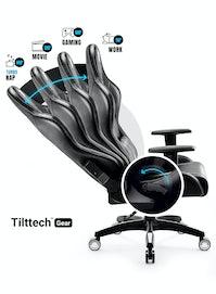 Fotel gamingowy Diablo X-One 2.0 Normal Size: Czarno-biały