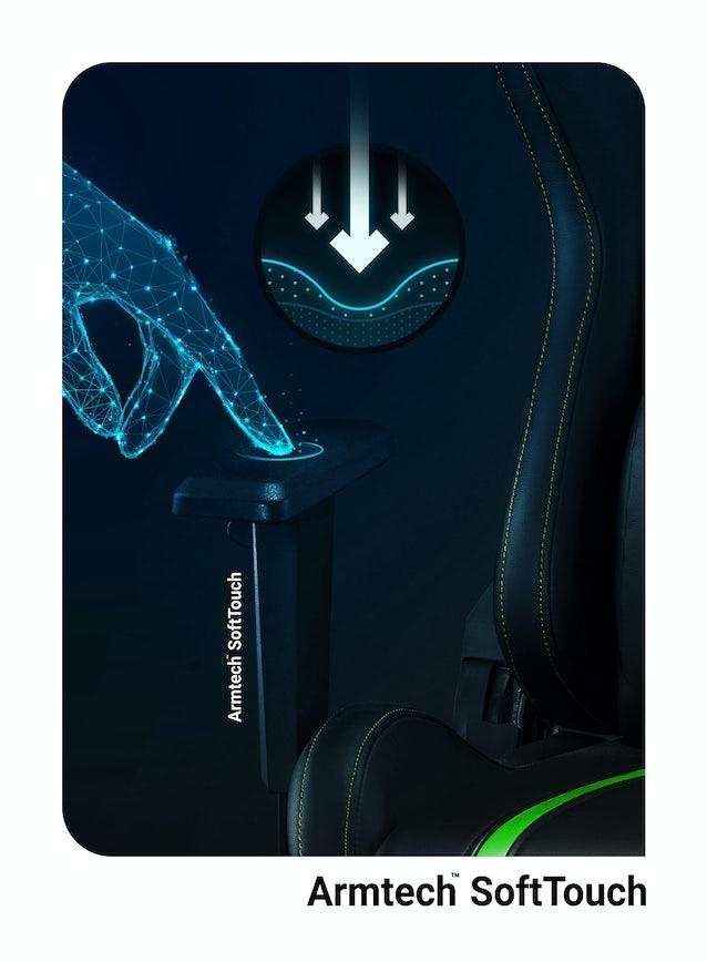Fotel gamingowy Diablo X-One 2.0 Normal Size: Czarno-zielony