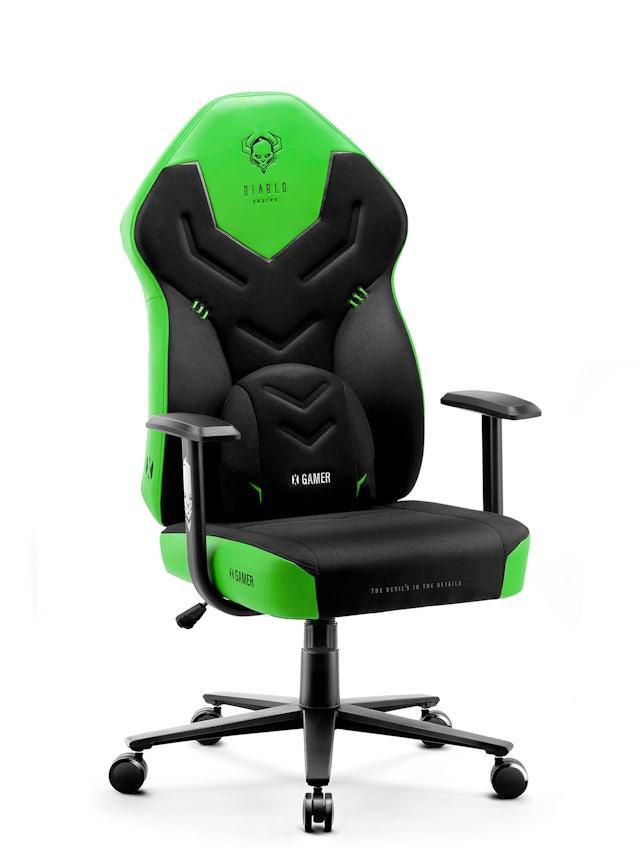 Diablo X-Gamer 2.0 Gamer szék Normal Size: fekete-zöld Diablochairs