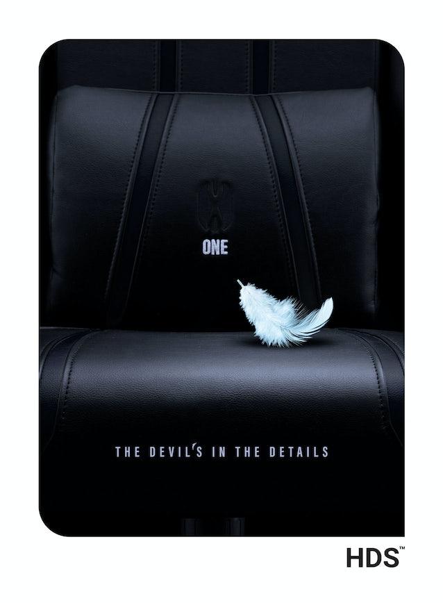 Scaun pentru copii Diablo X-One 2.0 Kids Size: negru Diablochairs