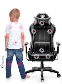 Kinder Schreibtischstuhl Diablo X-One 2.0 Kids Size: Schwarz-Schwarz