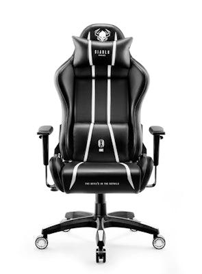 Scaun de gaming Diablo X-One 2.0 Normal Size: Negru-alb Diablochairs