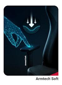 Fotel gamingowy Diablo X-Player 2.0 materiałowy Normal Size: Karmazynowo-antracytowy