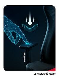 Gaming Stuhl Diablo X-Player 2.0 Stoffbezug Normal Size: Karminrot-Anthrazit