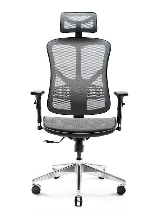 Ergonomischer Stuhl DIABLO V-BASIC: Schwarz-Grau