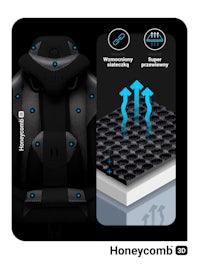 Fotel gamingowy Diablo X-Player 2.0 materiałowy Normal Size: Czarno-czarny
