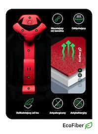 Fotel gamingowy Diablo X-Player 2.0 materiałowy Kids Size: Karmazynowo-antracytowy