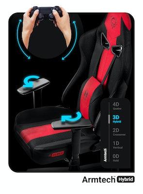 Dětská látková herní židle Diablo X-Player 2.0 Kids Size: karmínovo-antracitová Diablochairs