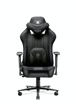 Fotel gamingowy Diablo X-Player 2.0 materiałowy Kids Size: Czarno-czarny