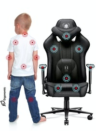 Detské látkové herné kreslo Diablo X-Player 2.0 Kids Size: čierne Diablochairs