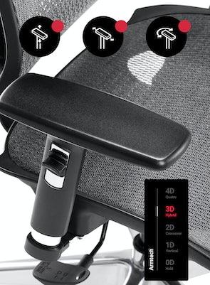 Fotel ergonomiczny DIABLO V-BASIC: czarno-szary