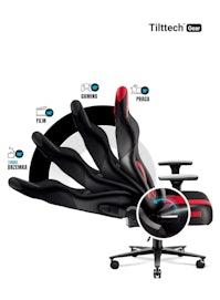 Fotel gamingowy Diablo X-Player 2.0 materiałowy King Size: Karmazynowo-antracytowy