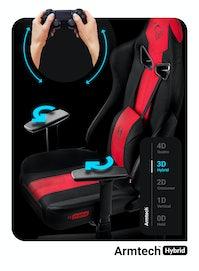Gaming Chair Diablo X-Player 2.0 Textile King Size: crimson-anthracite