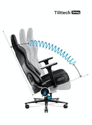 Látková herní židle Diablo X-Player 2.0 King Size: černá Diablochairs