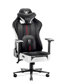 Gaming Stuhl Diablo X-Player 2.0 Stoffbezug Normal Size: Schwarz-Weiß