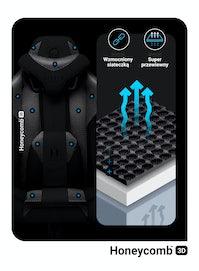 Fotel gamingowy Diablo X-Player 2.0 materiałowy Normal Size: Biało-czarny