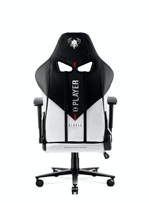 Fotel gamingowy Diablo X-Player 2.0 materiałowy Kids Size: Biało-czarny