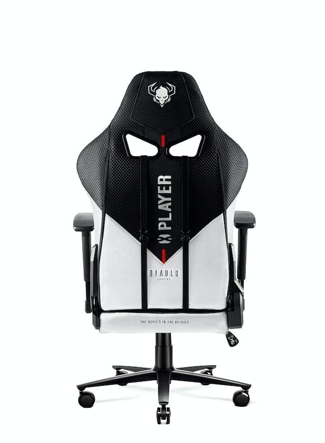 Dětská látková herní židle Diablo X-Player 2.0 Kids Size: bílo-černá Diablochairs