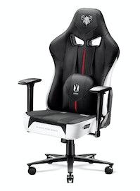 Látková herní židle Diablo X-Player 2.0 King Size: bílo-černá Diablochairs
