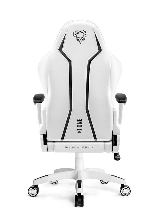 Fotel gamingowy Diablo X-One 2.0 Normal Size: Biało-czarny