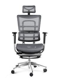 Kancelárska ergonomická stolička DIABLO V-MASTER: čierno-šedá Diablochairs