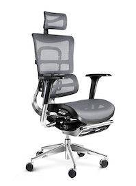 Fotel ergonomiczny DIABLO V-MASTER: czarno-szary
