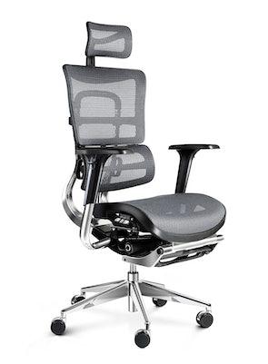 Ergonomická židle DIABLO V-MASTER: černo-šedá Diablochairs