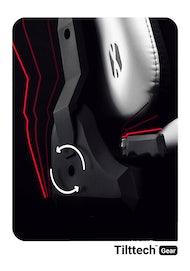 Fotel gamingowy Diablo X-Player 2.0 materiałowy King Size: Biało-czarny