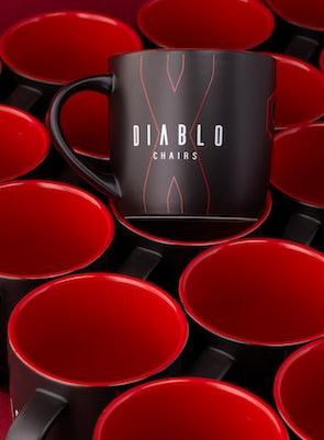 Kubek Diablo Chairs czarno-czerwony