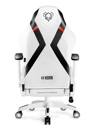 Scaun gaming Diablo X-Horn 2.0 King Size: Alb-negru Diablochairs