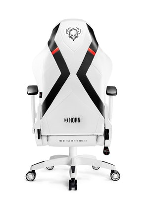 Scaun gaming Diablo X-Horn 2.0 Normal Size: Alb-negru Diablochairs