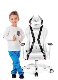 Dětská herní židle Diablo X-Horn 2.0 Kids size: bílo-černá Diablochairs