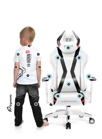 Fotel dziecięcy Diablo X-Horn 2.0 Kids Size: Biało-czarny