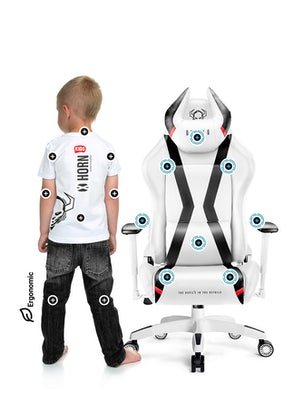 Scaun pentru copii Diablo X-Horn 2.0 Kids Size: Alb-negru Diablochairs