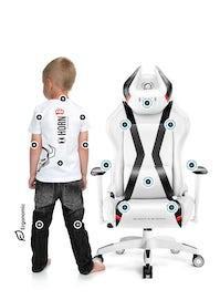 Diablo X-Horn 2.0 forgatható gamer szék gyerekeknek Kids Size: Fehér-fekete Diablochairs