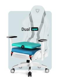 Fotel gamingowy Diablo X-Horn 2.0 Normal Size: Biało-czarny