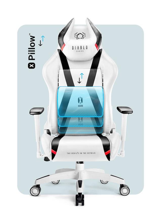 Fotel gamingowy Diablo X-Horn 2.0 King Size: Biało-czarny