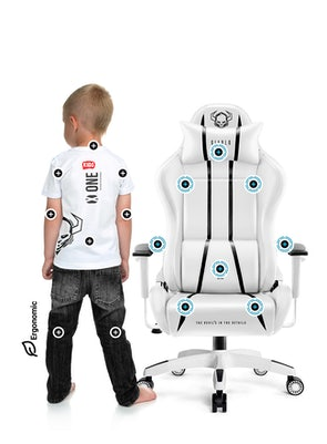 Scaun pentru copii Diablo X-One 2.0 Kids Size: Alb-negru Diablochairs