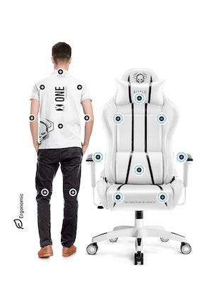 Gaming Chair Diablo X-One 2.0 King Size: white-black