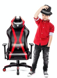 Detské otáčacie herné kreslo Diablo X-Horn 2.0 Kids Size: Čierno-červené Diablochairs