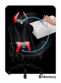 Dětská otočná herní židle Diablo X-Horn 2.0 Kids size: černo-červená Diablochairs