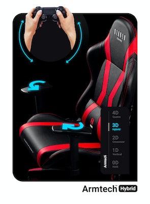Fotel dziecięcy Diablo X-Horn 2.0 Kids Size: Czarno-czerwony