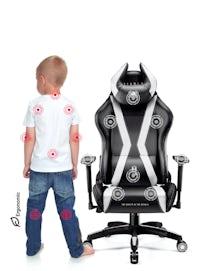 Scaun pentru copii Diablo X-Horn 2.0 Kids Size: Negru-alb Diablochairs