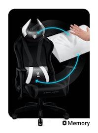 Fotel dziecięcy Diablo X-Horn 2.0 Kids Size: Czarno-biały