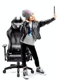 Schreibtischstuhl für Kinder Diablo X-Horn 2.0 Kids Size: Schwarz
