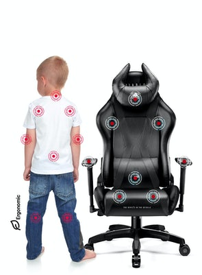 Dětská otočná herní židle Diablo X-Horn 2.0: Kids size černá Diablochairs