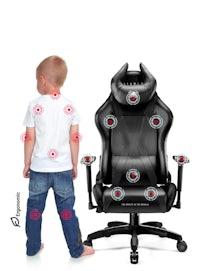 Detské otočné herné kreslo Diablo X-Horn 2.0 Kids Size: Čierne Diablochairs