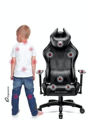 Scaun pentru copii Diablo X-Horn 2.0 Kids Size: Negru Diablochairs