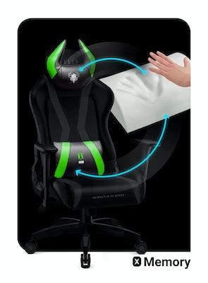 Herní židle Diablo X-Horn 2.0 Normal Size: Černo-zelená Diablochairs