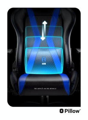 Scaun gaming Diablo X-Horn 2.0 Normal Size: Negru-albastru Diablochairs